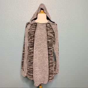 Earthbound | Mixed Fabric High Low Hoodie Sweater